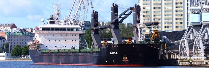 Alppila, 20,500 dwt bulk carrier with cranes