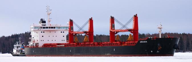 Ice-strengthened bulk carrier Arkadia