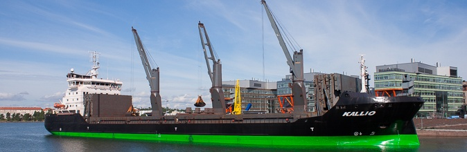 Kallio, 21,000 dwt general cargo ship with cranes